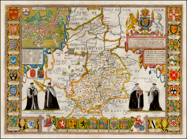 3-British Counties Map By John Speed