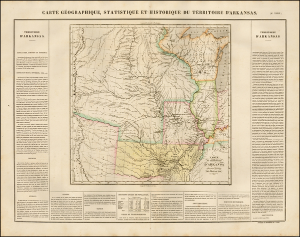 29-Texas, Midwest, Plains, Missouri, Southwest and Rocky Mountains Map By Jean Alexandre Buchon