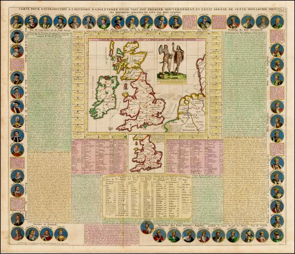 84-British Isles Map By Henri Chatelain