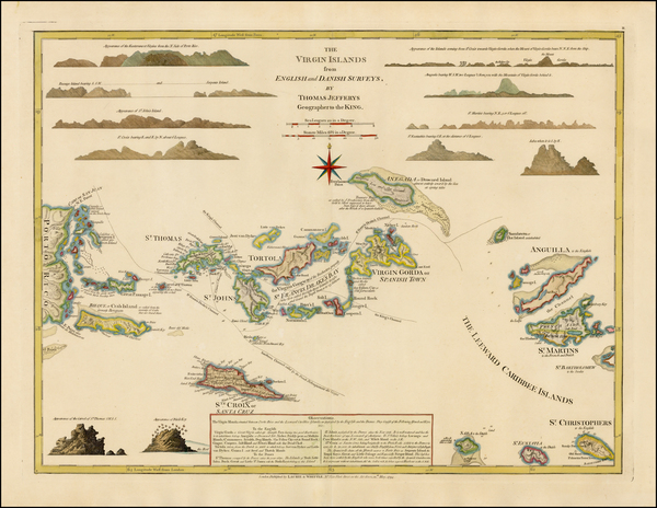 79-Caribbean and Virgin Islands Map By Thomas Jefferys