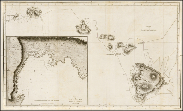89-Hawaii and Hawaii Map By James Cook