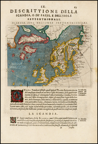 29-Polar Maps, Atlantic Ocean, Canada, Scandinavia, Iceland and Balearic Islands Map By Giovanni A