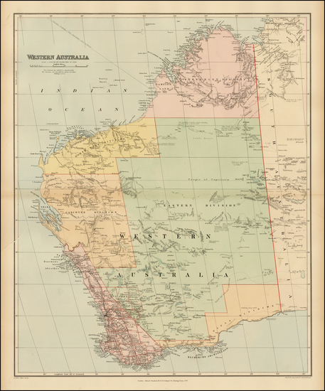 63-Australia Map By Edward Stanford