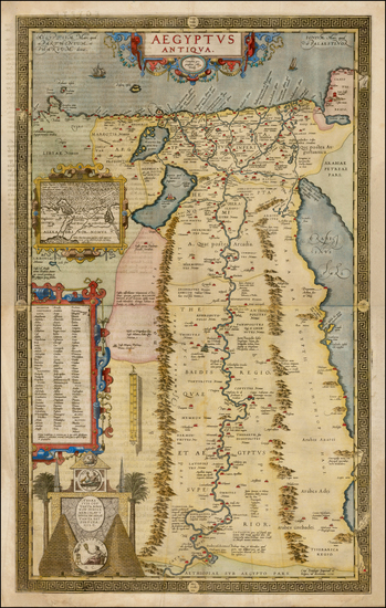 15-Egypt Map By Abraham Ortelius
