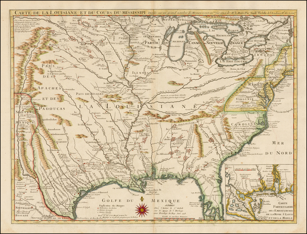 76-South, Southeast, Texas, Midwest, Plains, Southwest and Rocky Mountains Map By Guillaume De L'I