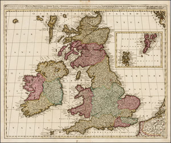 British Isles Map By Gerard & Leonard Valk