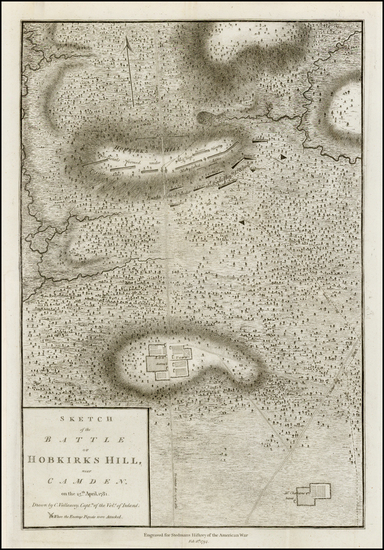 87-Southeast Map By Charles Stedman / William Faden