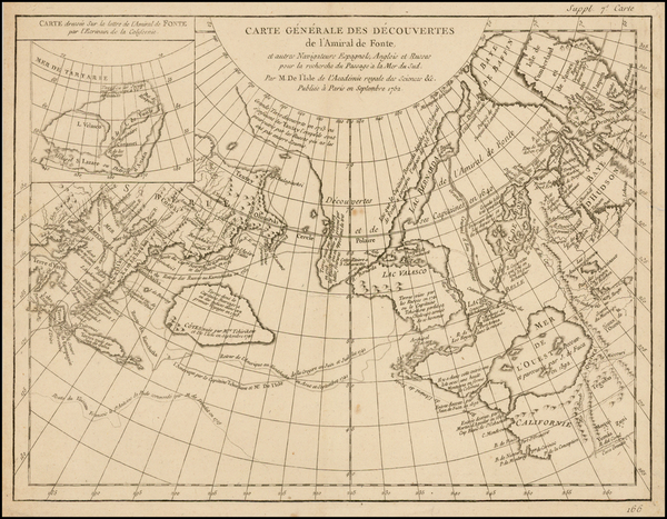 12-Alaska, Canada and Russia in Asia Map By Denis Diderot / Didier Robert de Vaugondy