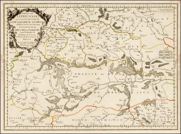 81-Poland, Russia and Ukraine Map By Nicolas Sanson