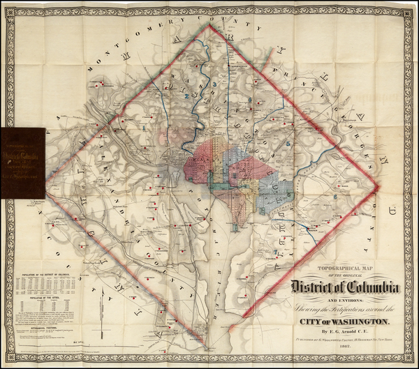 4-Washington, D.C. Map By E.G. Arnold