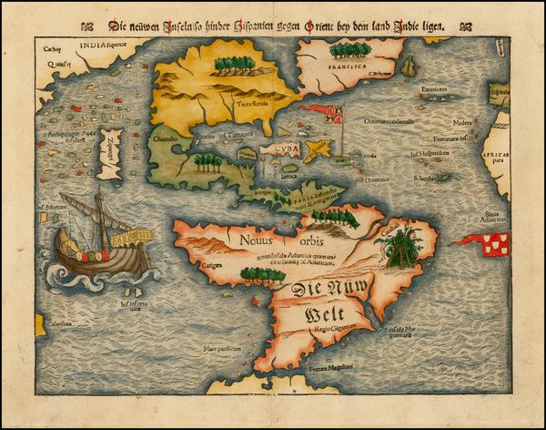 90-Western Hemisphere, North America, South America, Japan, Pacific and America Map By Sebastian M