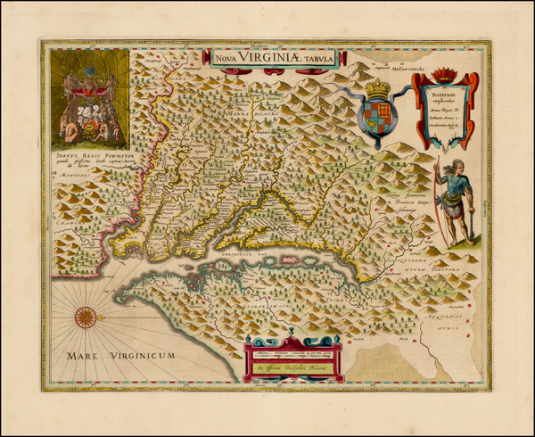 38-Mid-Atlantic and Southeast Map By Willem Janszoon Blaeu