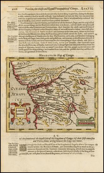 47-West Africa Map By Jodocus Hondius / Samuel Purchas