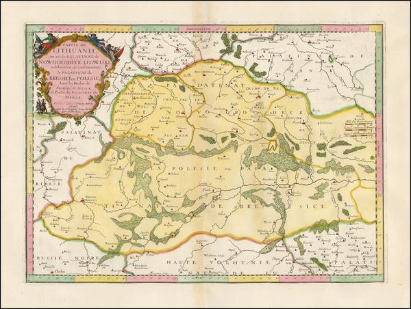 54-Poland, Russia and Ukraine Map By Nicolas Sanson