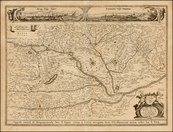 38-Austria, Hungary and Balkans Map By Cornelis II Danckerts