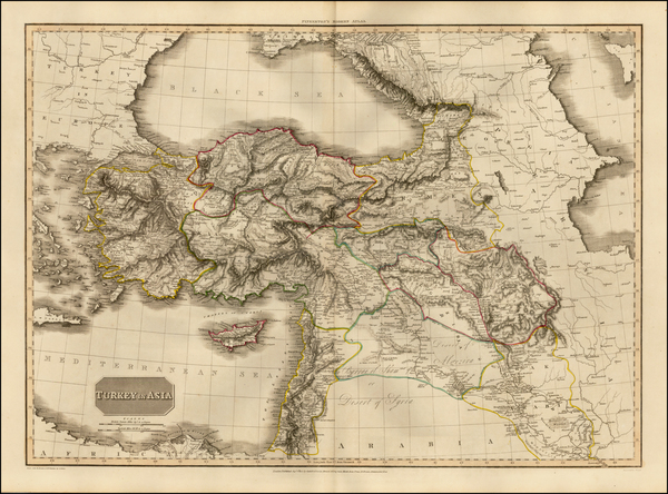52-Turkey, Middle East and Turkey & Asia Minor Map By John Pinkerton