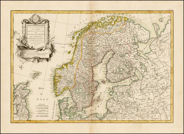 14-Scandinavia Map By Jean Janvier