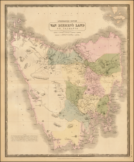 78-Australia Map By W. & A.K. Johnston