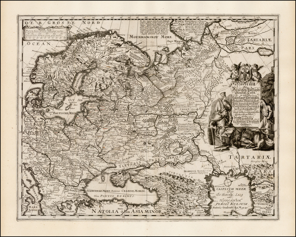 32-Europe, Europe, Russia and Ukraine Map By Johann Christoph Lochner