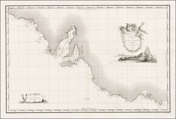 18-Australia Map By Louis Claude Desaulses de Freycinet