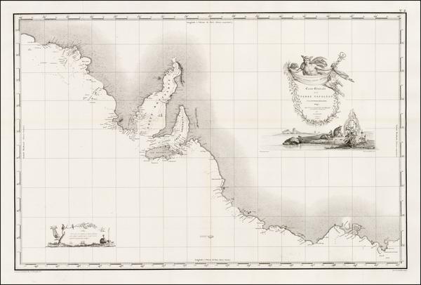26-Australia Map By Louis Claude Desaulses de Freycinet