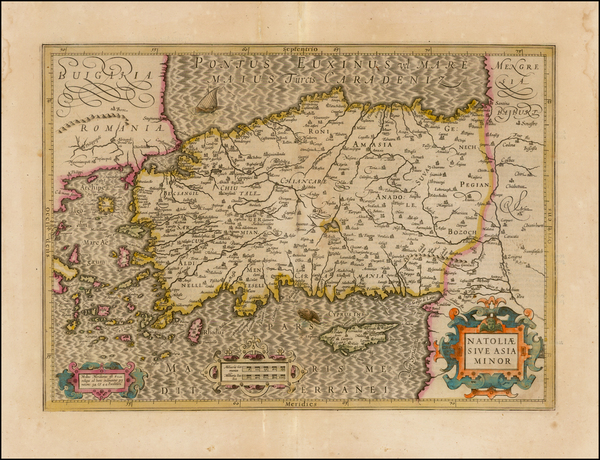 35-Turkey and Turkey & Asia Minor Map By Jodocus Hondius