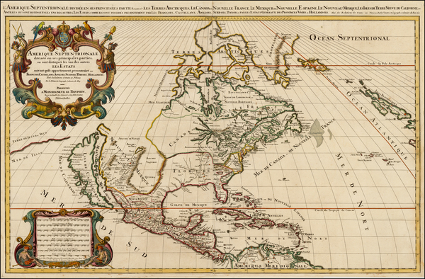 28-North America and California Map By Alexis-Hubert Jaillot