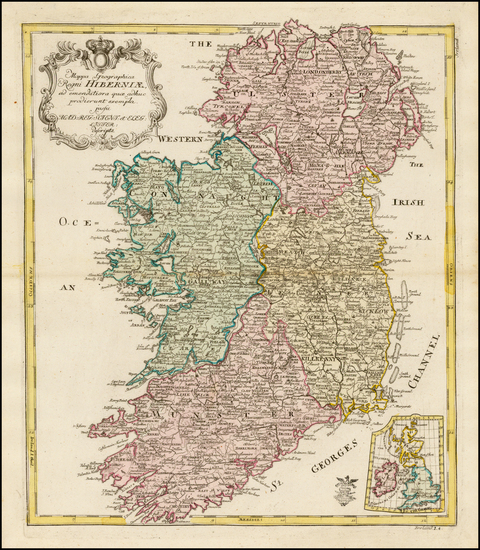 71-Ireland Map By Leonard Von Euler