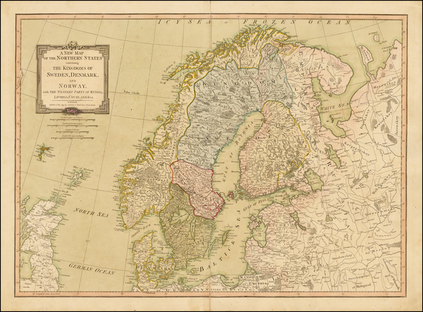 19-Scandinavia Map By Laurie & Whittle