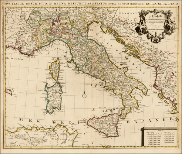 Italy Map By Johannes Covens  &  Cornelis Mortier