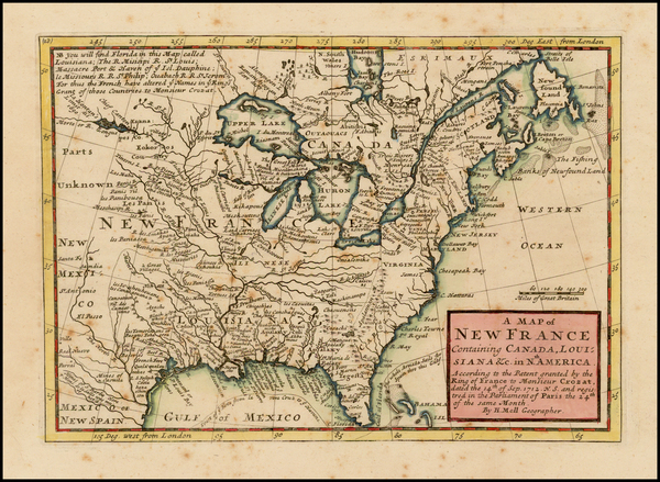 48-United States, Midwest and Plains Map By Herman Moll