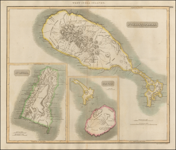 30-Caribbean and Other Islands Map By John Thomson