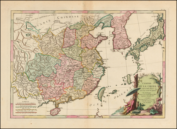 58-China, Japan and Korea Map By Jean Lattre