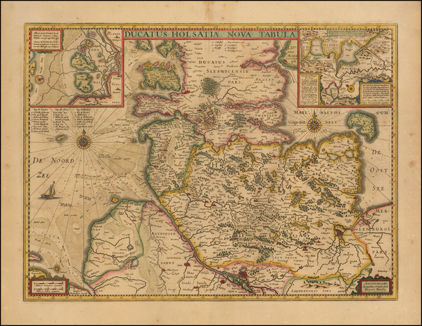 43-Germany Map By Henricus Hondius