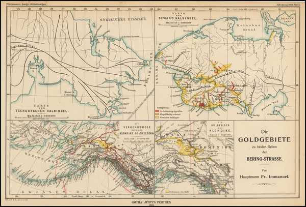85-Alaska and Canada Map By Augustus Herman Petermann