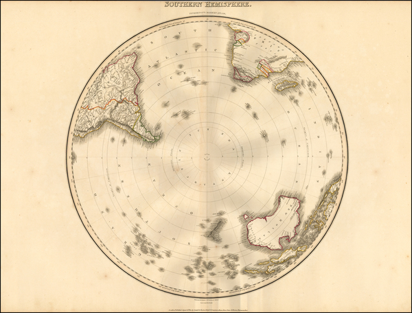 3-Southern Hemisphere and Polar Maps Map By John Pinkerton