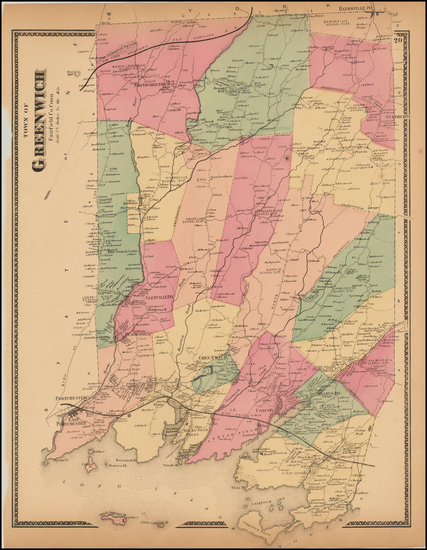 5-New England and Connecticut Map By Beers