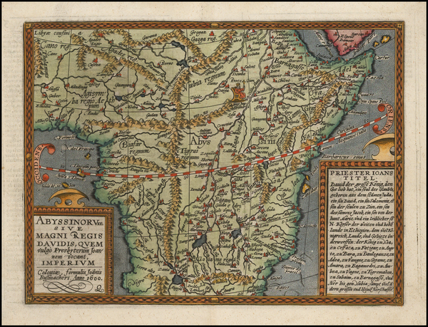 56-Africa, Africa, South Africa and East Africa Map By Matthias Quad / Johann Bussemachaer