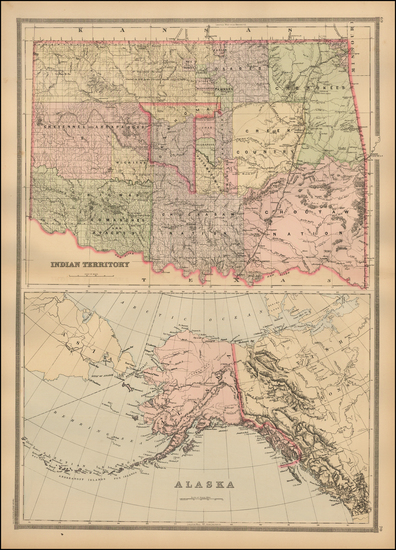 Plains and Alaska Map By William Bradley & Bros.