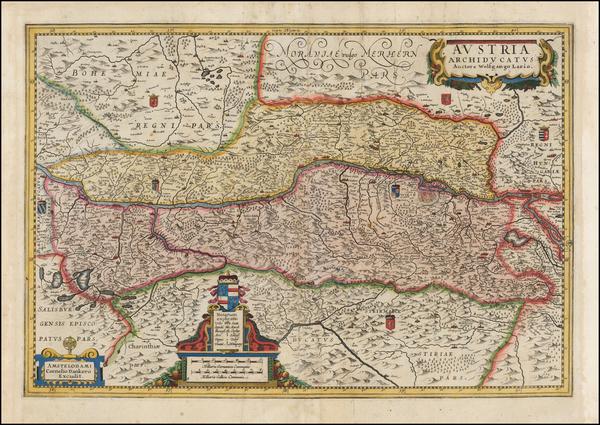 93-Austria and Czech Republic & Slovakia Map By Cornelis II Danckerts