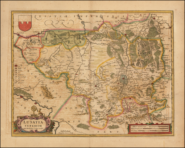 26-Germany Map By Henricus Hondius