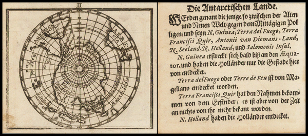 57-Southern Hemisphere and Polar Maps Map By Johann Ulrich Muller