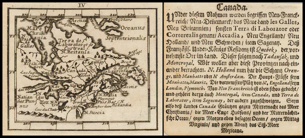 83-New England, Midwest and Canada Map By Johann Ulrich Muller