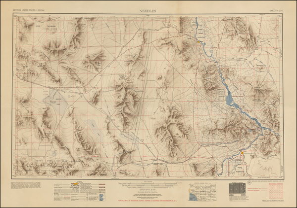36-California Map By U.S. Geological Survey