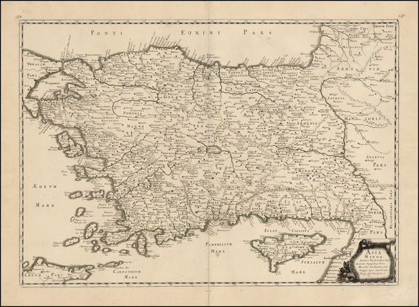 77-Turkey, Cyprus and Turkey & Asia Minor Map By Philippe de la Rue