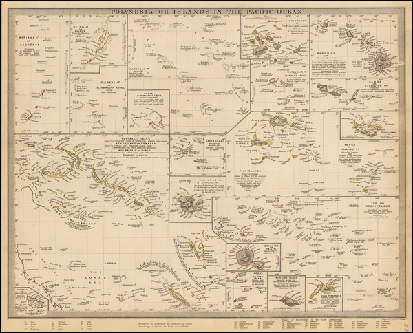 99-Hawaii, Pacific, Oceania, Hawaii and Other Pacific Islands Map By SDUK