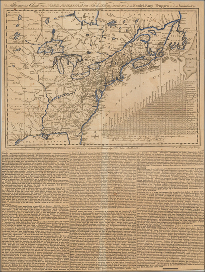 45-United States and American Revolution Map By Thomas Albrecht Pingeling / T.C. Ritter