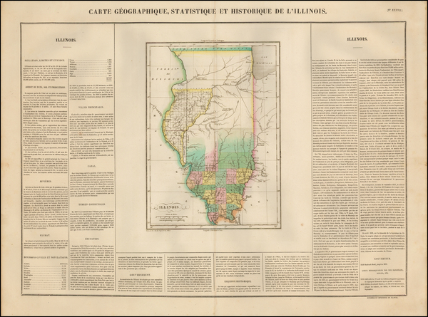 32-Midwest and Illinois Map By Jean Alexandre Buchon