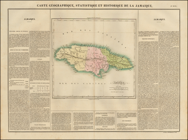 93-Jamaica Map By Jean Alexandre Buchon