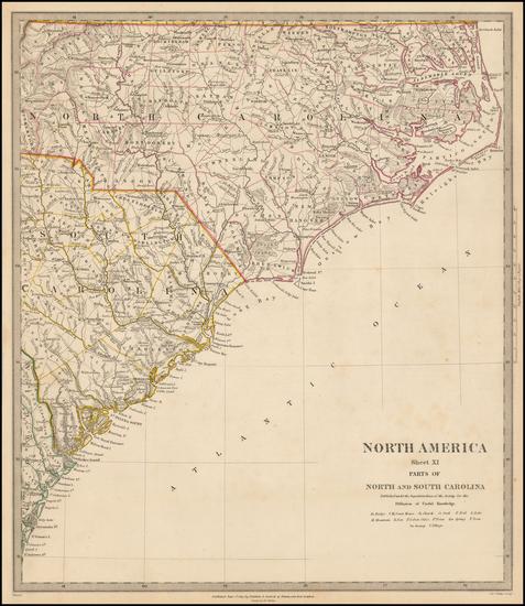 60-Southeast and North Carolina Map By SDUK